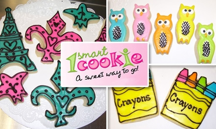 1 Smart Cookie - Oklahoma City: $19 for Three Dozen Cookies plus Six Iced Cutout Cookies at 1 Smart Cookie ($42 Value)