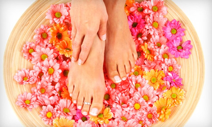 Sonia Herbal Beauty Salon - Multiple Locations: $22 for Mani-Pedi at Sonia Salon (Up to $45 Value)