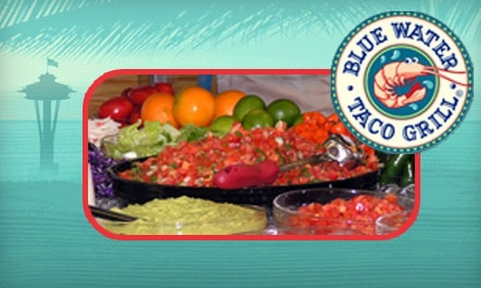 Blue Water Taco Grill - Multiple Locations: $7 for $15 Worth of Fresh Coastal Mexican Fare at Blue Water Taco Grill