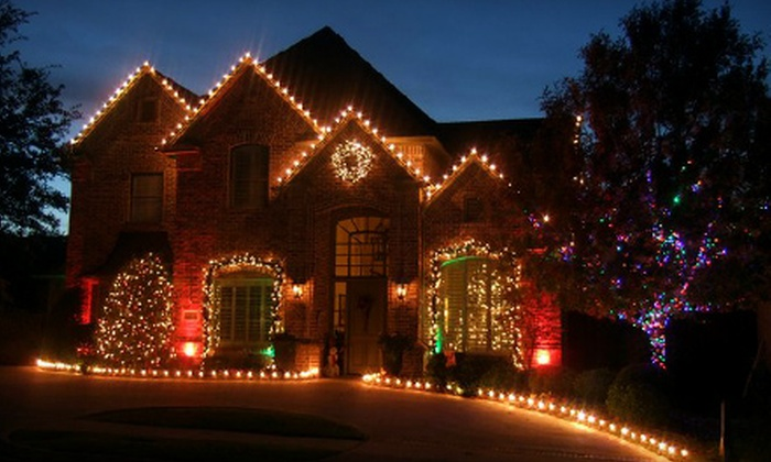 Five Star Holiday Decor - Multiple Locations: Holiday Lighting Package for a One- or Two-Storey House from Five Star Holiday Decor (Up to 57% Off)