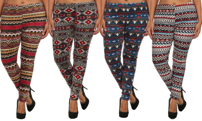 plus-size leggings (5-pack) | groupon goods