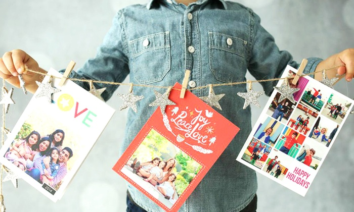 """Picaboo: 40, 70, or 100 5""""x7""""Custom Flat Holiday Cards with Envelopes and FreeShipping from Picaboo (Up to 64% Off)"""