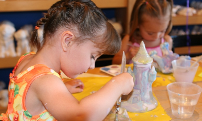 Paint a Dream - Multiple Locations: $11 for Studio Fees and $8 Toward Pottery Painting for Two or More at Paint A Dream ($20 Value)