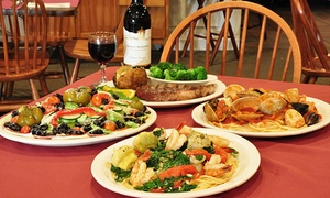 Valente's Restaurant: Italian Dinner at Valente's Restaurant (Up to 47% Off). Four Options Available.