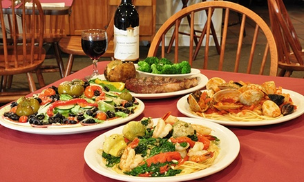 Italian Dinner at Valente's Restaurant (Up to 47% Off). Four Options Available.
