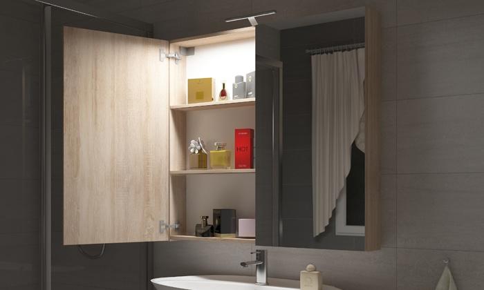 Badkamer Spiegelkast 100cm : Badkamer spiegelkast met led groupon goods