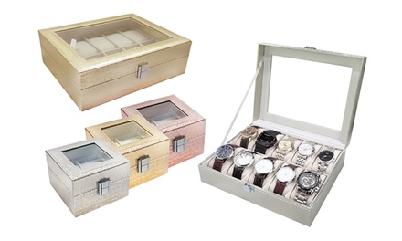 Watch Display Box: 2 ($15), 3 ($18), 6 ($26), 10 ($29.95) or 12 ($34) Slots
