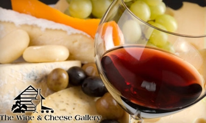 The Wine and Cheese Gallery - Gainesville: $18 for Bottle of Wine and Cheese Plate (Up to $37 Value) or $12 for Two Glasses of Wine and Cheese Plate (Up to $27 Value) at The Wine & Cheese Gallery