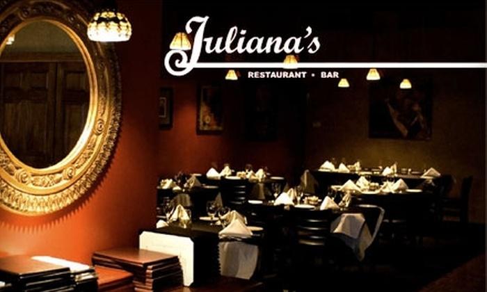 Juliana's - College Park: $20 for $40 Worth of Upscale Italian Cuisine at Juliana's
