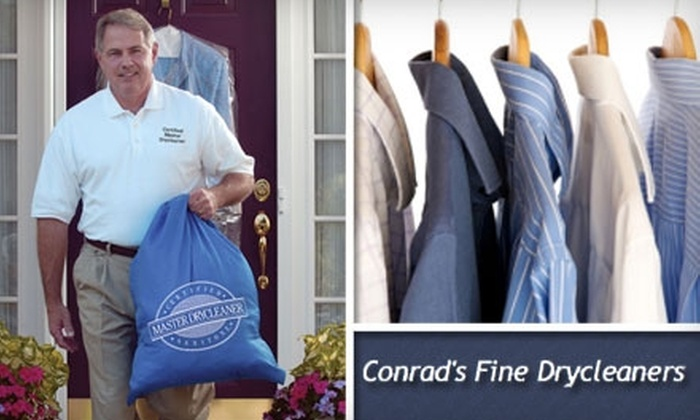 Conrad's Fine Drycleaners  - Los Angeles: $40 for $90 Worth of Dry-Cleaning Pick-Up and Delivery from Conrad's Fine Drycleaners
