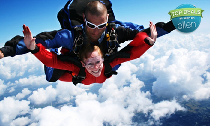 Skydive Tampa Bay, Inc - Mulberry: $130 for One Tandem-Jump Package with T-shirt at Skydive Tampa Bay, Inc. in Mulberry ($220.40 Value)