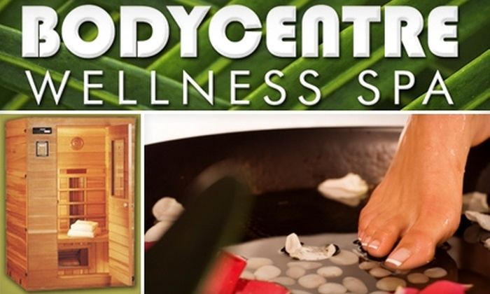 Bodycentre Wellness Spa - Multiple Locations: $20 for Two Infrared Sauna Sessions or an Ionic Detox Foot Therapy Session at The BodyCentre Wellness Spa (Up to a $50 Value)
