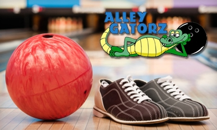 Alley Gatorz - Gainesville: $19 for Two Hours of Bowling, Shoes, and More for Up to Four People at Alley Gatorz