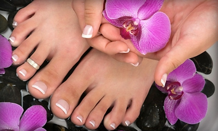 Cary O'Brien's Design & Color Spa - Saint Charles: $48 for a Spa Mani-Pedi with a Paraffin Dip at Cary O'Brien's Design & Color Spa in St. Charles ($97 Value)