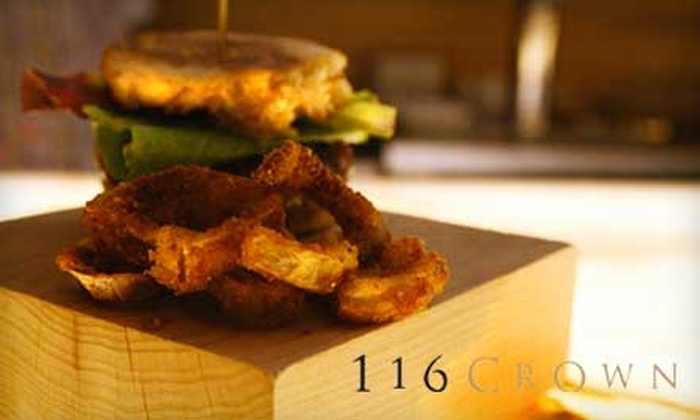 116 Crown - Downtown: $20 for $40 Worth of Creative Cocktails and Tapas at 116 Crown