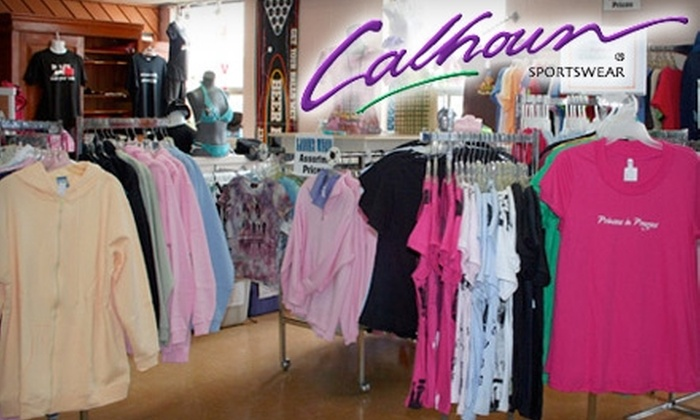 Calhoun Sportswear - Queenston: $25 for $50 Worth of Apparel and Novelty Items at Calhoun Sportswear in St. Catharines