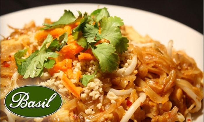 Basil Restaurant - Short North: $10 for $20 Worth of Thai Cuisine and Drinks at Basil Restaurant
