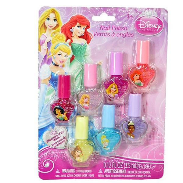 Disney Princess 7-Color Nail Polish Set