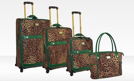 Adrienne Vittadini Faux Calf Hair 4-Piece Luggage Set. Free Returns.