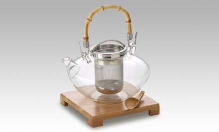 Tea Zen 42 Oz. Hand-Blown Glass Teapot