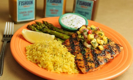 $12 for $20 Worth of Seafood for Two at Fishook Grille