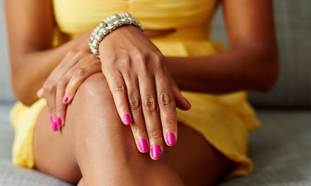 One or Two Gel Shellac Manicures at Midtown Beauty Bar (Up to 41% Off)