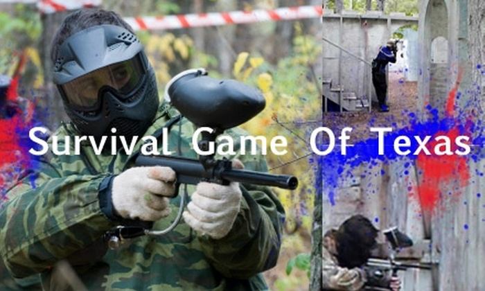 Survival Game of Texas - Magnolia Gardens: $41 for All-Day Paintballing at Survival Game of Texas