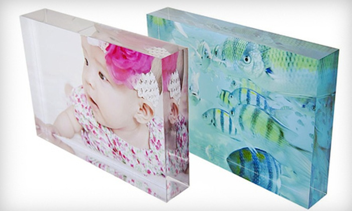"ChicCanvas.com: $39 for 5""x7"" Custom Acrylic Photo Block with Shipping from ChicCanvas.com ($83.95 Value)"