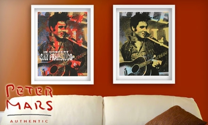 Peter Mars Authentic: $89 for Limited-Edition Framed Elvis Presley Lithographs With or Without City Print Customization ($275 Value) or $159 for Both ($550 Value)