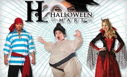 half off costumes at halloween mart halloween mart groupon - Halloween Mart Coupon Code