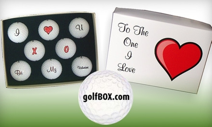 Golfbox.com - Washington DC: $25 for a Valentine's Day Box of Decorated Golf Balls from Golfbox.com