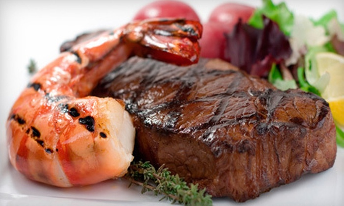 Tailgate Steaks and Seafood - San Francisco: Surf 'n' Turf Dinners for Four from Tailgate Steaks and Seafood (Up to 63% Off). Three Options Available.