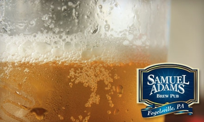 Sam Adams Brew Pub - Upper Macungie: $7 for $15 Worth of Pub Fare and Drinks at Sam Adams Brew Pub