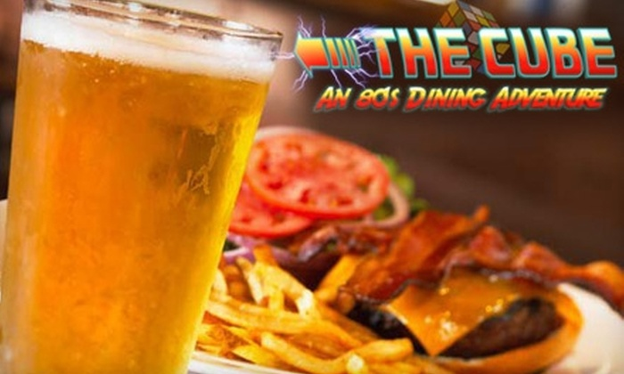 The Cube Restaurant and Bar - Greater Newark: $7 for $15 Worth of Retro Dining at The Cube Restaurant and Bar in Newark