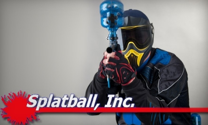 Splatball, Inc. - Prospect Park: $15 for Entry, Paintball Gun, Compressed Air, and Goggles Rental at Splatball, Inc. ($30 Value)