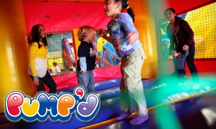 Pump'd Inflatable Fun Center - Watsonville: $15 for One Open Jump Pass Including Six Open Jump Admissions to Pump'd Inflatable Fun Center ($30 Value)