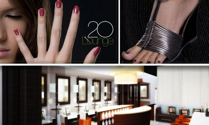 20 Lounge Nail Bar & Boutique - North Scottsdale: $30 for a Mani-Pedi at 20 Lounge Nail Bar & Boutique ($60 Value)