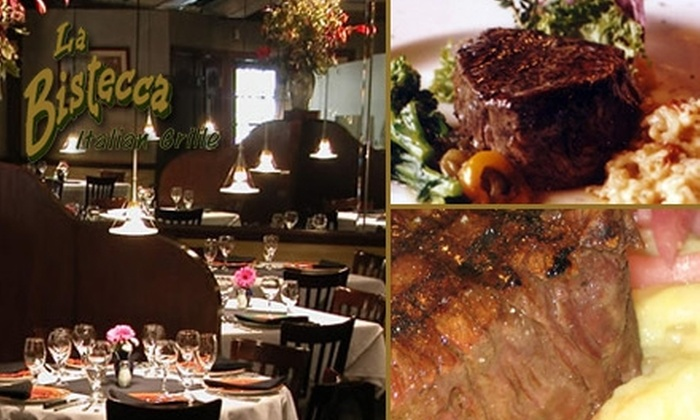 La Bistecca Italian Grille - Plymouth: $25 for $50 Worth of Cuisine at La Bistecca Italian Grille