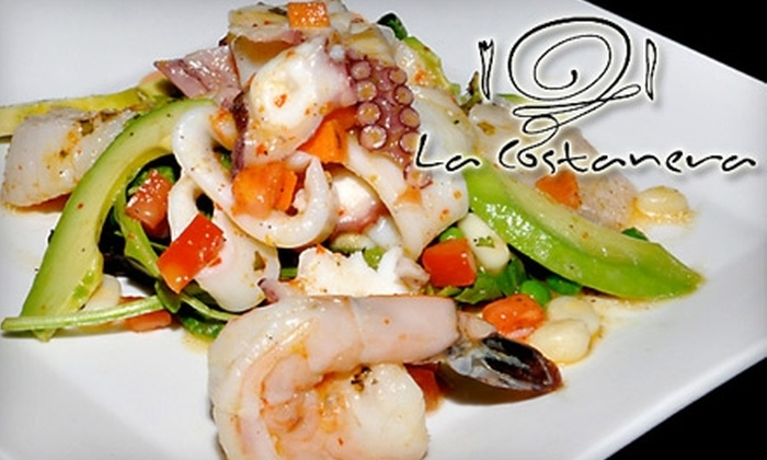 La Costanera - South Coastside: $20 for $40 Worth of Peruvian Fare and Drinks at La Costanera in Montara Beach