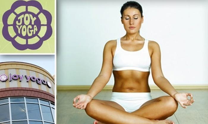 Joy Yoga Center - Houston: $25 for Five Vinyasa Yoga Classes at Joy Yoga Center ($75 Value)