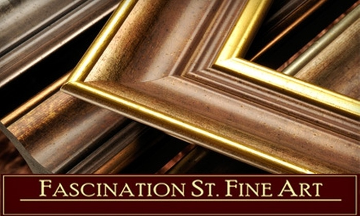 Fascination St. Fine Art - Cherry Creek: $50 for $125 Worth of Custom Framing at Fascination St. Fine Art