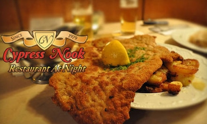 Cypress Nook Restaurant at Night - Pompano Beach: $15 for $30 Worth of German Fare and Drinks at Cypress Nook Restaurant at Night