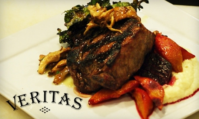 Veritas Gateway to Food and WIne - Chesterfield: $13 for $30 Worth of Seasonal Dinner Fare or $6 for $12 Worth of Lunch Fare at Veritas Gateway to Food and Wine in Chesterfield