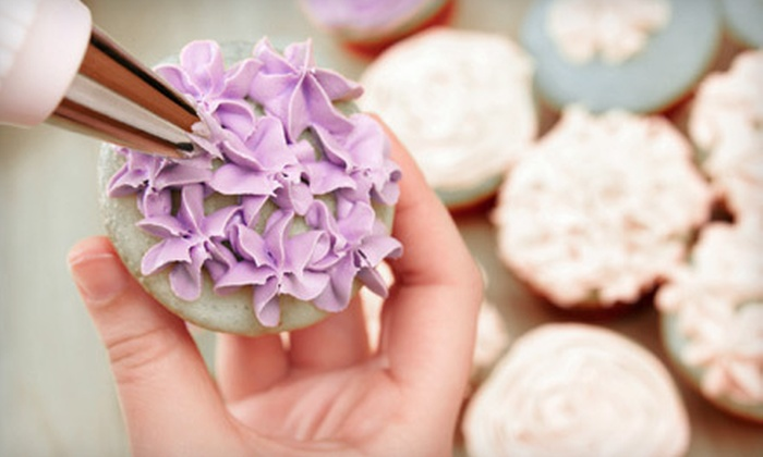 I Wish Lessons - Multiple Locations: Cupcake-Decorating Class for One, Two, or Four from I Wish Lessons (Up to 60% Off)