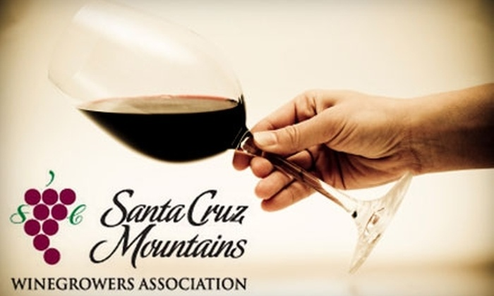 Santa Cruz Mountains Winegrowers - South Coastside: $7 for Four Tasting Tickets and Two Wine Glasses at Half Moon Bay Food & Wine Fare ($14 Value)