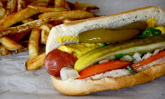 Mad Dog's Eatery - The Isthmus,Downtown,Warrens Addition: $5 for $10 Worth of Hot Dogs, Sandwiches, and Burgers at Mad Dog's Eatery