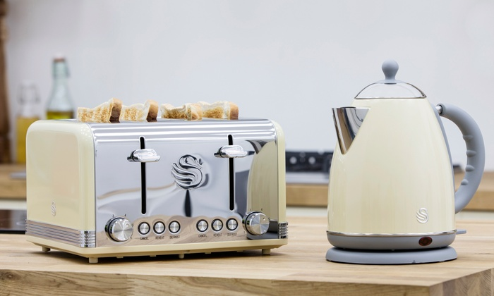 Swan Retro Kettle And Toaster Set Groupon Goods