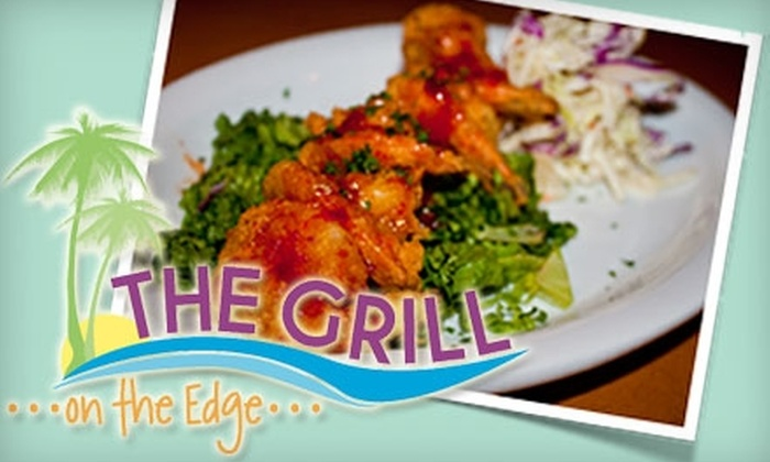 The Grill on the Edge - Folly Beach: $10 for $20 Worth of Casually Elegant Cuisine at The Grill on the Edge