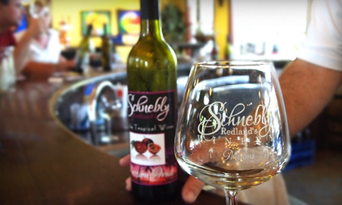 Schnebly Redland's Winery - Everglades: $25 for a Wine-Tasting Package for Two at Schnebly Redland's Winery in Homestead (Up to $54.90 Value)
