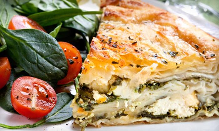 Mediterranean Cuisine - Downtown Nashville: Mediterranean Dinner for Two or Dinner and Hookah for Two at Mediterranean Cuisine
